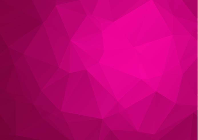 Fondo basso poli triangolare sgualcito geometrico astratto dell'illustrazione di vettore di stile di vettore di rosa