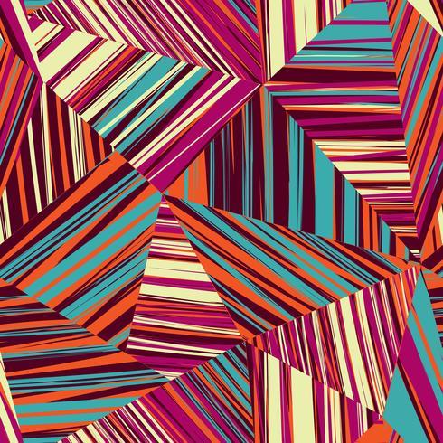 Modello senza cuciture di forma geometrica astratta. Sfondo a righe vettore