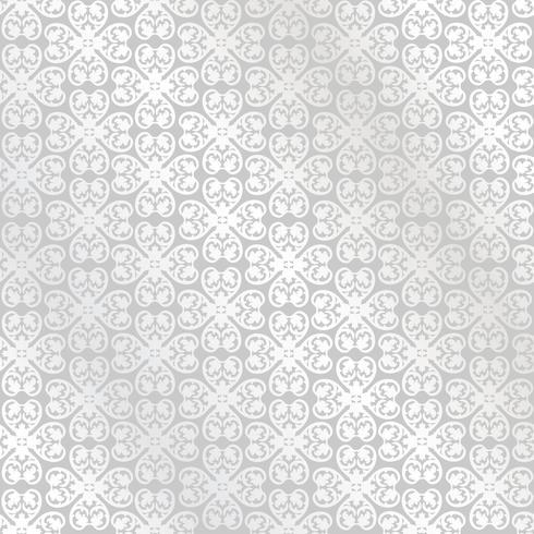 Linea motivo floreale. Ornamento astratto Broccato sfondo senza soluzione di continuità vettore
