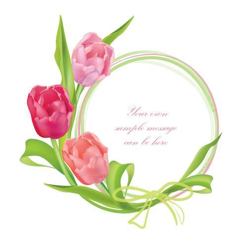 Bouquet di fiori Cornice floreale. Sfondo di cartolina d'auguri di estate vettore
