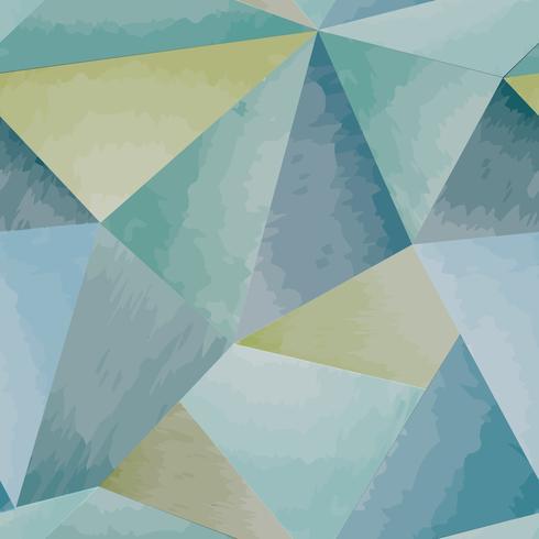 Modello senza cuciture astratto Fondo dell'acquerello di forma geometrica vettore
