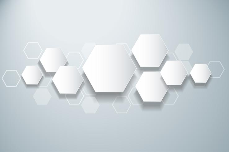 fondo astratto di esagono di progettazione dell'alveare dell'ape vettore