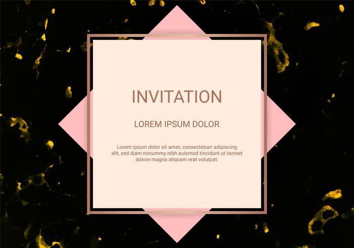 Modello di progettazione di cartolina d'auguri, banner minimo e copertura con struttura di marmo e priorità bassa di stagnola dorata geometrica. vettore