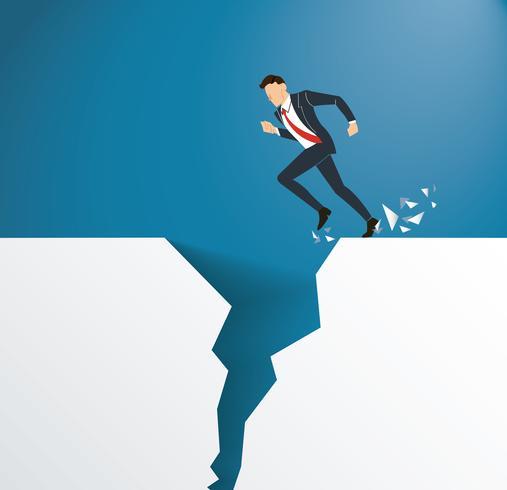 problema aziendale superare il concetto di rischio di crisi di ostacolo vettore