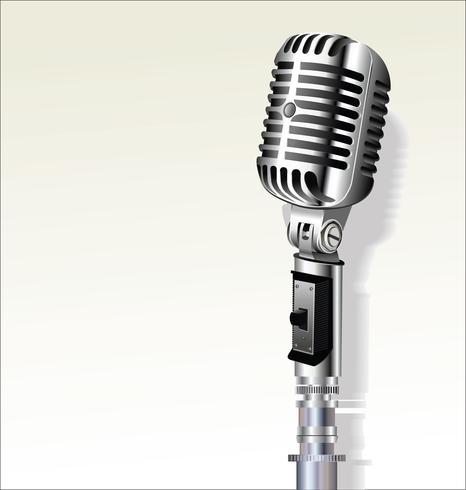 Retro priorità bassa di disegno del microfono dell'annata vettore