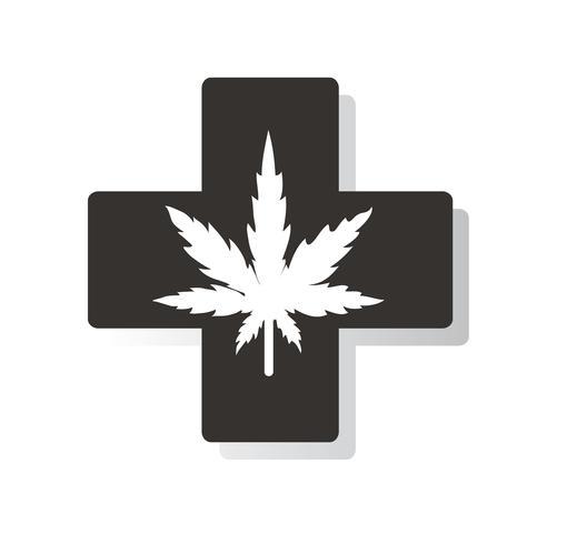 terapia della cannabis medica e assistenza sanitaria vettore