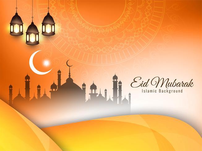 Astratto sfondo festival islamico vettore