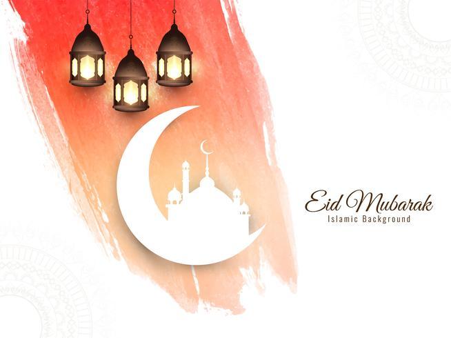 Astratto sfondo islamico di Eid Mubarak vettore