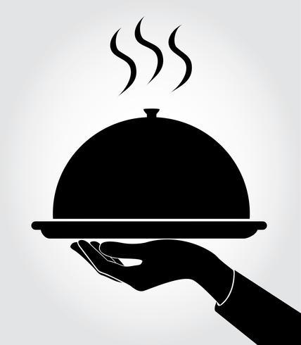 cameriere / cameriera servire icona, piatto vettore