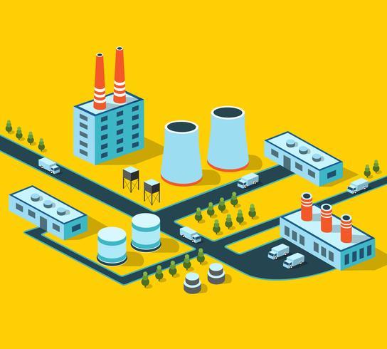 Edifici industriali vettore