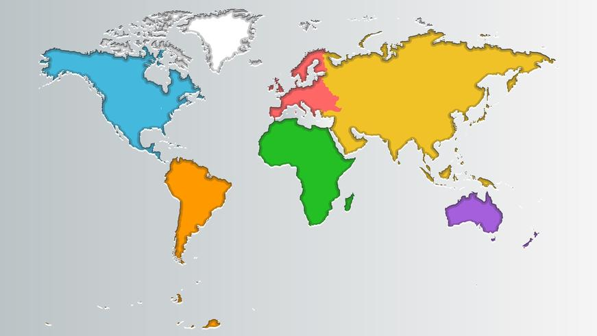 Mappa del mondo vettore
