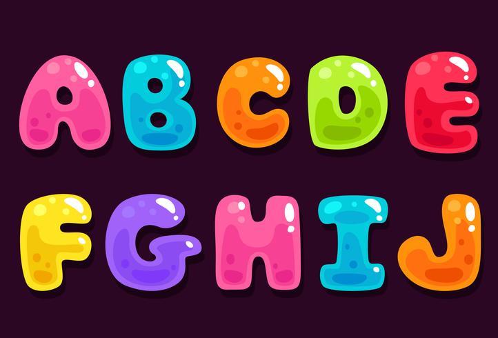 Alfabeti colorati gelatina parte 1 vettore