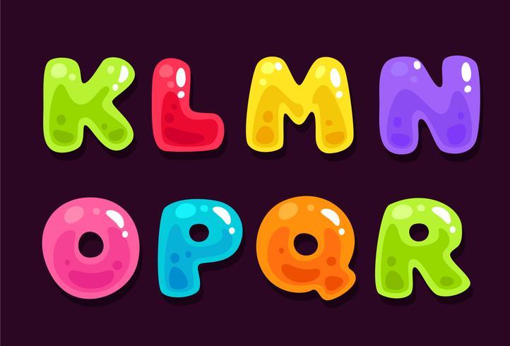 Alfabeti colorati gelatina parte 2 vettore