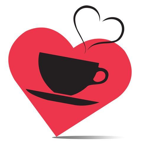 l'amore della bevanda calda, vettore tazza di caffè