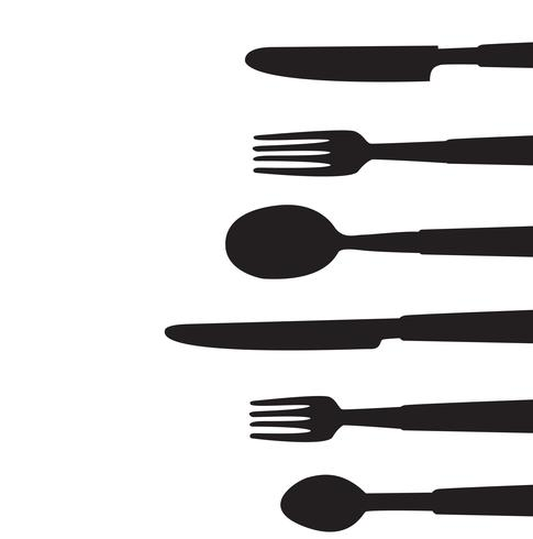 vettore di strumenti di cena