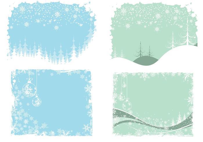 Christmas and Winter Wallpaper Pack di vettore