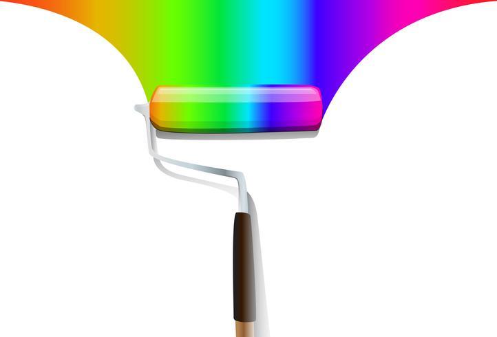 fondo variopinto di vettore del pennello arcobaleno