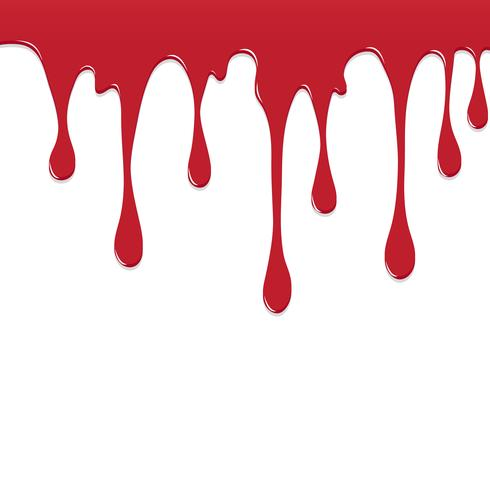 Dipinga il rosso colorato sgocciolatura splatter, spruzzi di colore o Dropping sfondo disegno vettoriale