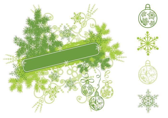 Pacchetto di Natale Banner fiocco di neve vettore