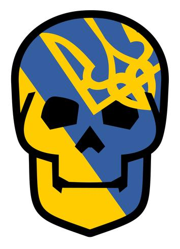 emblema con teschio vettore