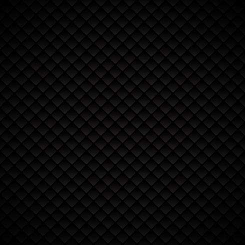 Progettazione geometrica nera di lusso astratta del modello dei quadrati su fondo scuro vettore