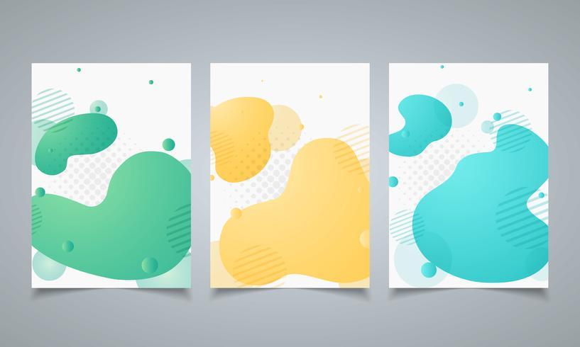 Forma geometrica astratta di progettazione moderna del modello dell'opuscolo degli elementi. Pattern di forme colorate dinamiche. illustrazione vettoriale eps10