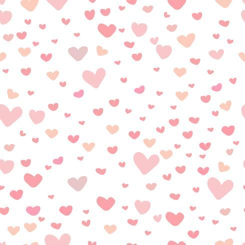 Fondo astratto del modello del cuore, modello di stile di scarabocchio di amore, illustrazione di vettore. vettore