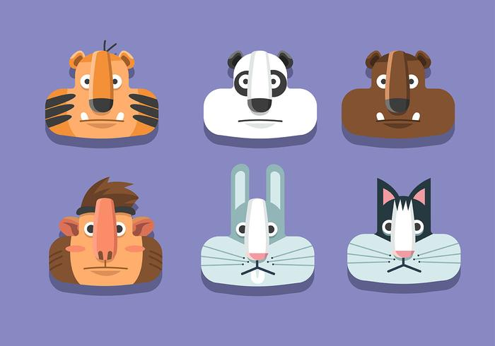 Set di animali vettore