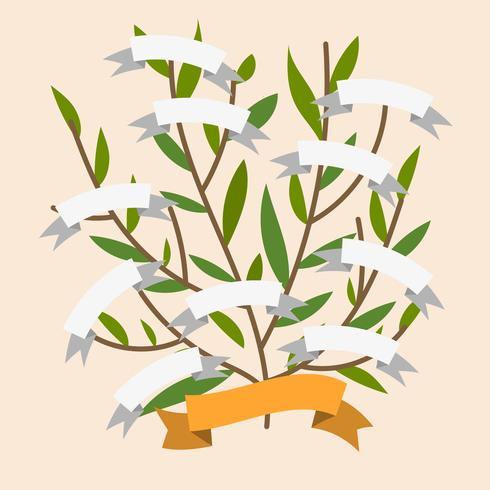 Modello di vettore piatto semplice albero genealogico