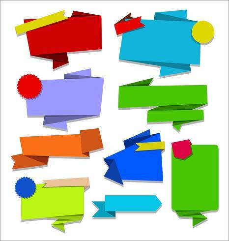 Collezione di adesivi e contrassegni moderni distintivi vettore
