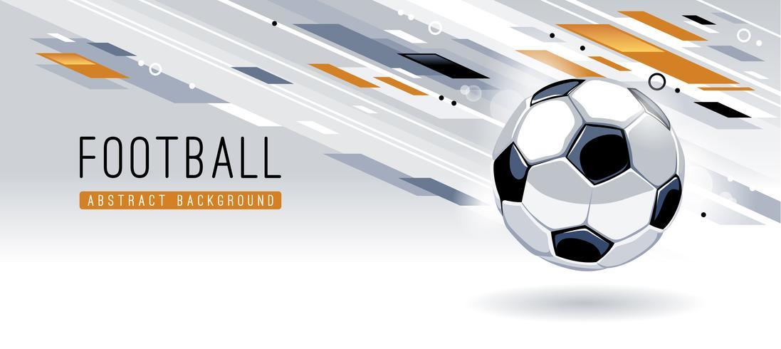 Priorità bassa moderna astratta con pallone da calcio vettore
