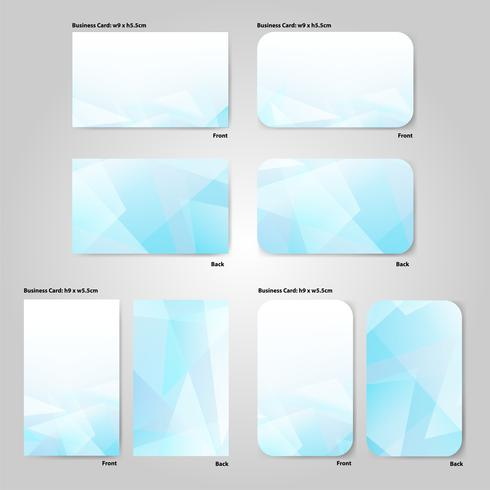 vettore di modello di biglietto da visita in stile sfondo blu bianco geometrico