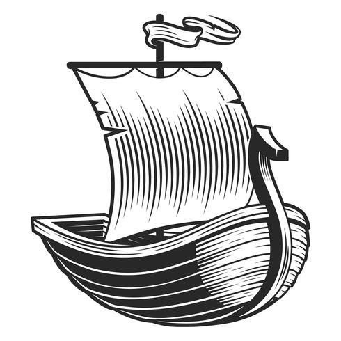 Emblema della barca vettore