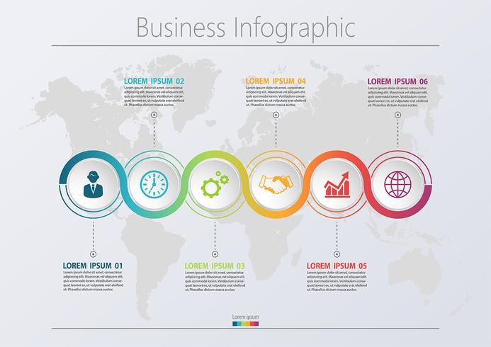 Modello di infografica di Business road map presentazione vettore