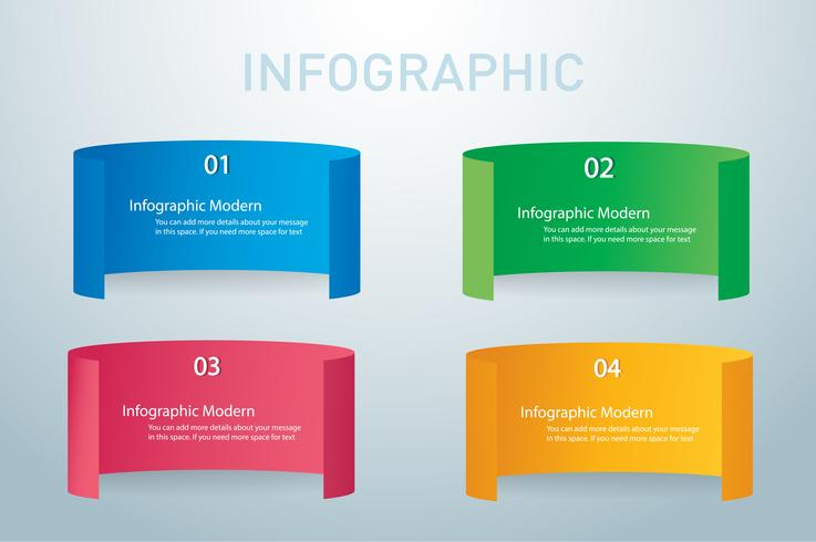 modello di progettazione di vettore delle insegne grafiche di informazioni di carta