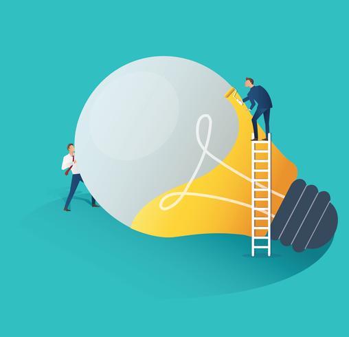 illustrazione di vettore di concetto di idea di cooperazione di uomini d'affari