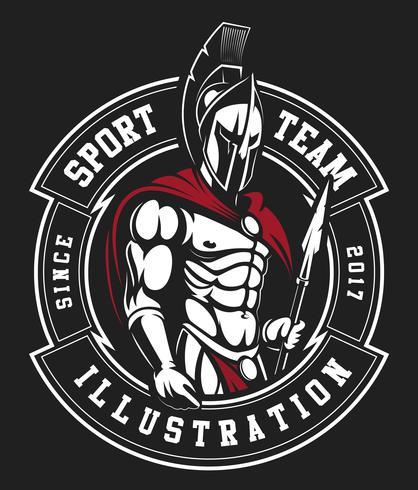 Emblema del gladiatore vettore