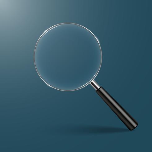 Illustrazione vettoriale di lente di ingrandimento