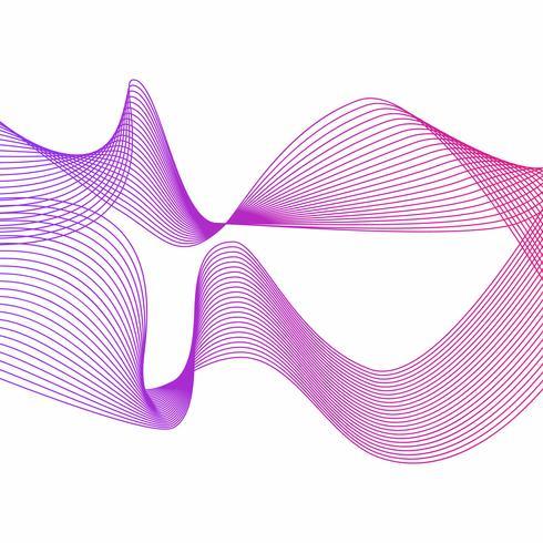 Arte astratta della linea dell'onda di pendenza delle bande vettore