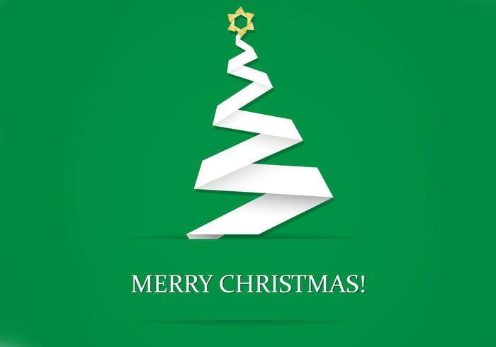 Vettore della carta da parati dell'albero di Natale di origami