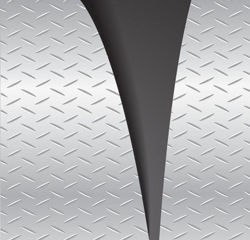 illustrazione di vettore di sfondo nero spazio strappato piastra metallica e lo spazio di taglio