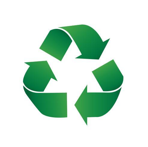 riciclare icona simbolo illustrazione vettoriale