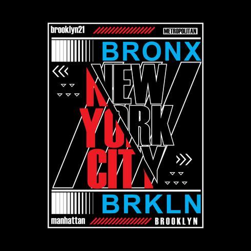 Brooklyn remix tipografia, grafica t-shirt, vettori