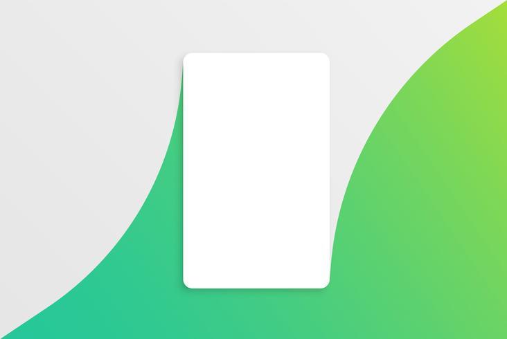 Modello di carta bianca moderna colorato con design colorato vettore