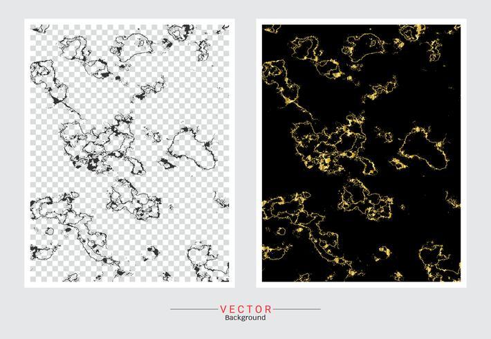 Sfondo di copertina in marmo dorato. vettore