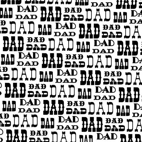 modello di sfondo vettoriale papà nero bianco