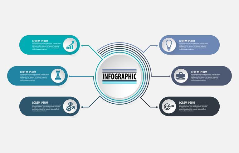 Modello di infografica di presentazione aziendale vettore