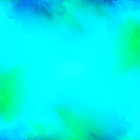 Astratto sfondo acquerello blu brillante vettore