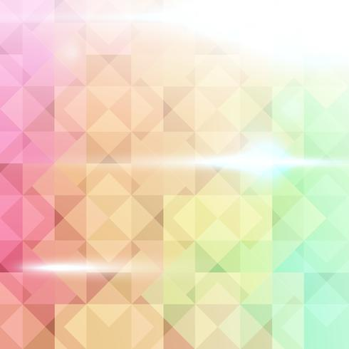 Sfondo colorato astratto con forma quadrata. vettore