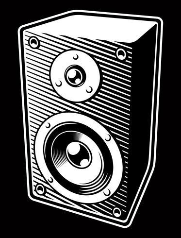 Altoparlante audio vintage vettore